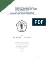 Analisis Pengaruh Sikap Dan Penerimaan Teknologi Oleh Staf Dan Karyawan Fia Ub Dalam Pelaporan Informasi Akademik Mahasiswa Dengan Penerapan Model Tam