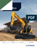 Hyundai HX145LCR crawler excavator