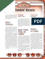 Ars Magica - Mundane Beasts.pdf
