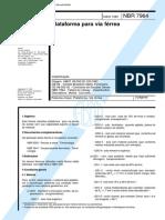 NBR - 07964 - Plataforma Para via Férrea