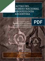 XIX Congreso Nacional de Arqueologia Argentina- 2016 Arql Forense