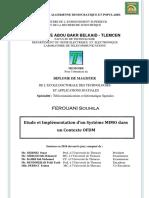 Etude Et Implementation d'Un Systeme MIMO Dans Un Contexte OFDM