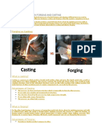 Difference Between Forging and Casting