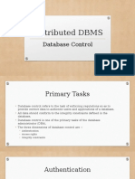 Distributed DBMS- Control & Optimization