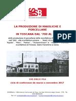 Programma Ciclo Conferenze Porcellana
