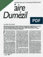1992 Vidal-Naquet_L'affaire Dumézil_Nouvel Obs
