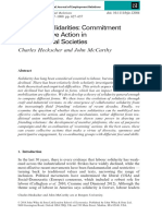 Transient Solidarities - Commitment and Collective Action in Post-Industrial Societies