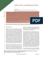 Tropical Tranexamic Acid as a Promising Treatment of Melasma 1