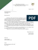 Letter for Vista Alegre
