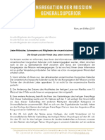 [Deutsch] Der Brief zur Revision des Vincentischen Liturgischen Kalenders