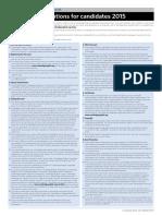 Summary Regulation Notice 2015
