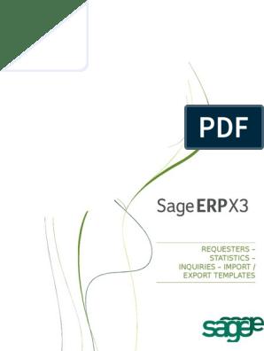 Sage X3 - User Guide