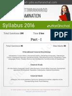 Uttarakhand Samuh G Exam Syllabus