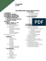 Foaia de observatie clinica neurologica