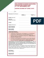 Registration Conduct 2017
