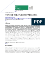 Indian J Dermatol-Topical Treatment of Melasma