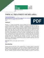 Indian J Dermatol-Topical Treatment of Melasma