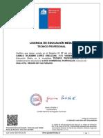 Licencia Cuarto Medio