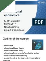 International Economics 1 2017