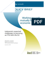 Indonesia's expected challenges in pursuing an FTA with the EU
