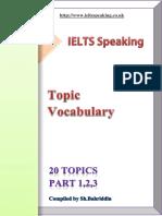 120 Ielts Speaking Topics Parts 1 2 3