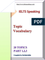 120 Ielts Speaking Topics Parts 1 2 3