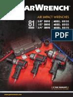 GEARWRENCH 81 Series Air Impact Wrench Brochure SP-188-En
