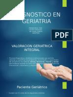 Diagnostico en Geriatría