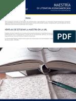 Maestría en Literatura Hispanoamericana - Universidad Rafael Landívar de Guatemala