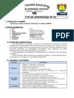 1° GRADO - PROYECTO DE APRENDIZAJE 02 - XMIND
