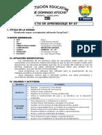 1° GRADO - PROYECTO DE APRENDIZAJE 07  - CmapTools.docx