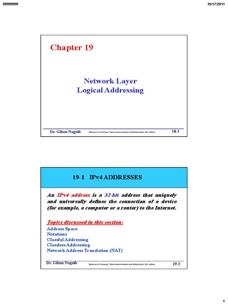 Network Layer Logical Addressing | Port (Computer Networking