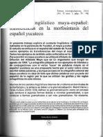 Contacto Linguistico Maya-espanol Transf