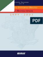 Pib Municipal 1999 2003