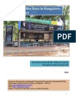 Bus Stop and Bus Bays in Bangalore a Status Report 2012