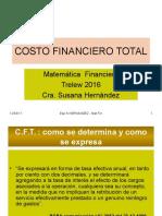 COSTO FINANCIERO TOTAL Presentacion 2016 Actualizado