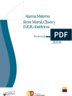Alarma Materna - Score Mamá Claves y d.e.r. Obstetricos