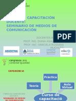 CURSO DE CAPACITACIÓN DOCENTE:SEMINARIO DE MEDIOS DE COMUNICACIÓN