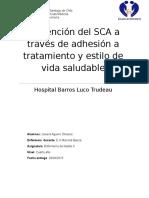 Prevención Del SCA a Través de Adhesión a Tratamiento y Estilo de Vid1