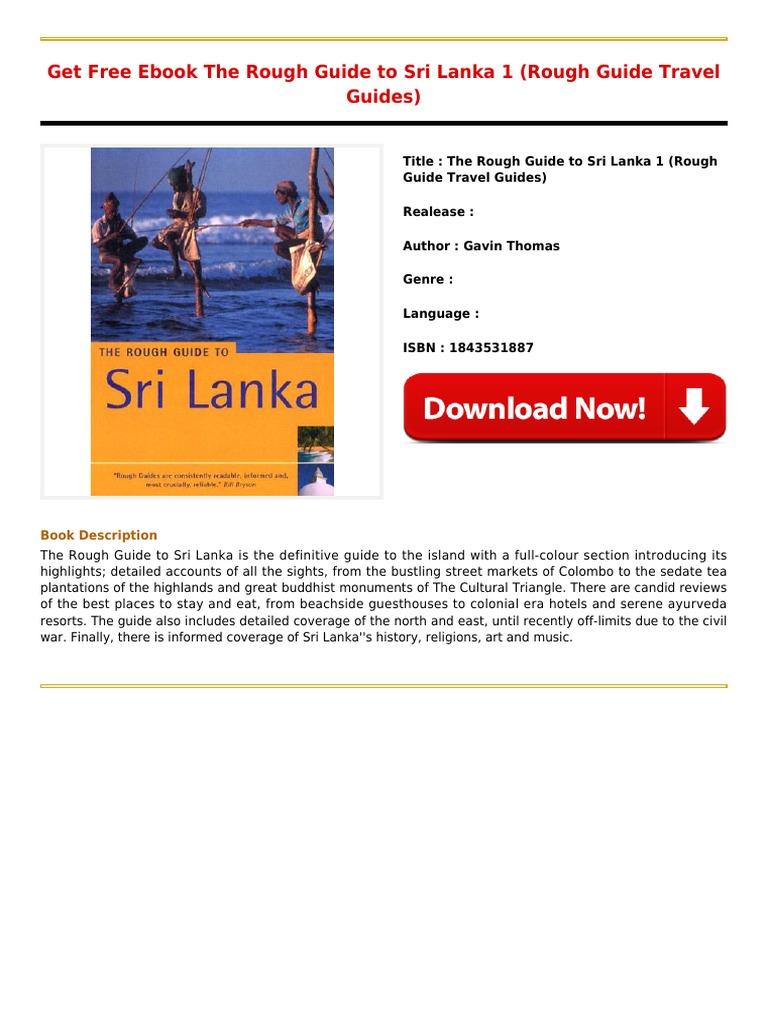 Read Free Ebook The Rough Guide To Sri Lanka 1 Rough Guide Travel  Guidespdf  E Books  Books