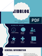 kidblog self chosen project