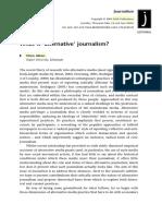 "What is ""alternative"" journalism?"