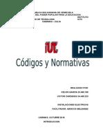 Instalaciones Eléctricas. Normativas y Codigos.