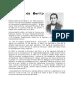 Biografia de Benito Juarez y Porfirio Diaz