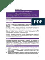 Nueva Norma Iso 9001 2015.Uniendo La Estrategia y El Modelo de Gestion. a.rodriguez