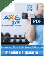 AxS Gym Software Manual
