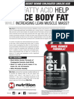 MAX CLA - CAN A FATTY ACID HELP REDUCE BODY FAT WHILE INCREASING LEAN MUSCLE MASS?