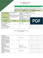 Plan Operativo Anual Por Instancias 2017