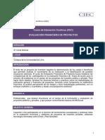 Evaluacion Financiera de Proyectos Catalogo