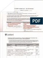 post-placement learning plan